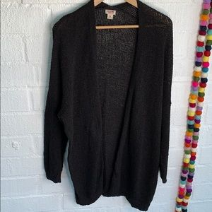Mossimo Oversized Black Knit Long Cardigan sz XXL